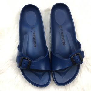 Birkenstock Womens Navy Madrid EVA Sandals SZ 10